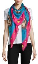 Gucci Eye & Star Scarf