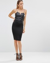 AX Paris Pu Cami Bodycon Midi Dress