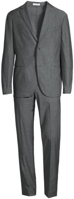 Boglioli Single-Breasted Chambray Suit