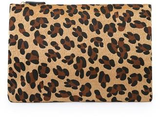 Goodnight Macaroon 'Oli' Leopard Print Faux Fur Clutch (2 Sizes)