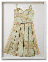 Dawn Wolfe Design Folded Paper Map Dress - Italy