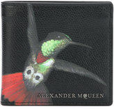 Alexander McQueen hummingbird print wallet - men - Calf Leather - One Size