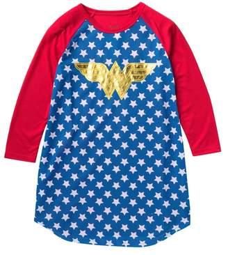 Intimo Wonder Woman Logo Raglan Nightgown (Little Girls & Big Girls)