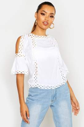 boohoo Cold Shoulder Cut Out Detail Top
