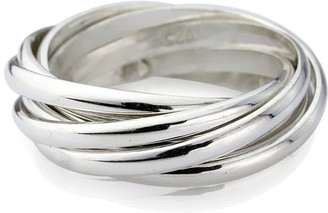 Clarendon Auree Jewellery Sterling Silver Seven Strand Ring