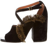 Dries Van Noten Fringe Buckled Sandals