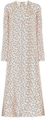 Marni Floral silk midi dress