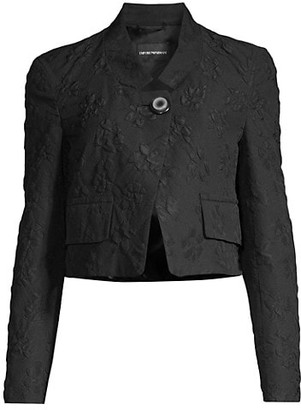 Emporio Armani Floral Jacquard Crop Jacket