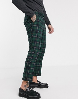 Twisted Tailor trousers in green tartan check