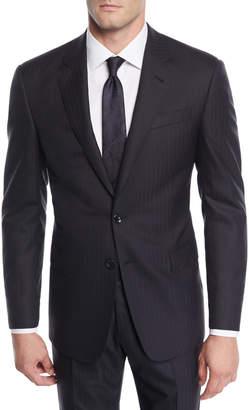 Giorgio Armani Men's Herringbone Two-Piece Wool Suit