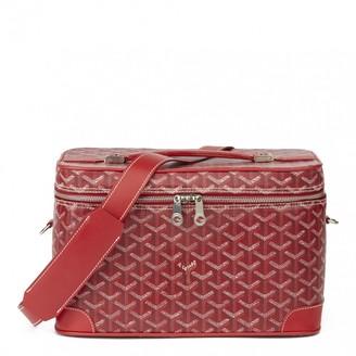Goyard Red Cloth Travel bags