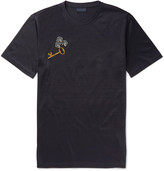 Lanvin Slim-Fit Appliquéd Cotton-Jersey T-Shirt
