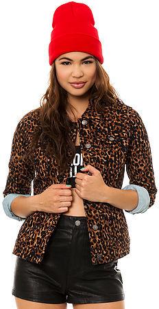 Tripp NYC The Dirty Leopard Denim Jacket