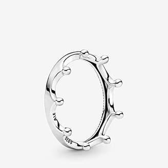 Pandora Polished Crown 925 Sterling Silver Ring, Size: EUR-58, US-8.5-198599C00-58