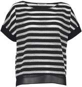 Great Plains Lattice Stripe Woven Trim Top