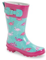 Western Chief Girl's Classic Flamingo Rain Boot