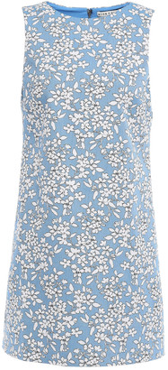 Alice + Olivia Cotton-blend Floral-jacquard Mini Dress