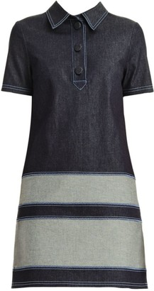 Carolina Herrera Stretch-Denim Polo Shirtdress