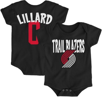Infant Damian Lillard Black Portland Trail Blazers Name & Number Creeper