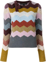 Marc Jacobs chevron intarsia sweater