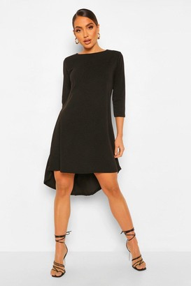 boohoo Crop Sleeve Dip Hem Shift Dress