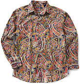 Daniel Cremieux Long-Sleeve Paisley Print Woven Shirt