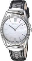 Gucci Women's YA140506 Horse bit Analog Display Analog Quartz Black Watch