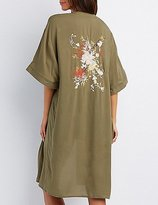 Charlotte Russe Floral Embroidered Duster Kimono
