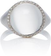 Susan Foster 18K White Gold and Diamond Moonstone Ring