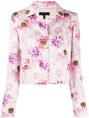 Escada Flora Jacquard Cropped Jacket