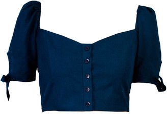 Lily & Lou Lavender Top Navy