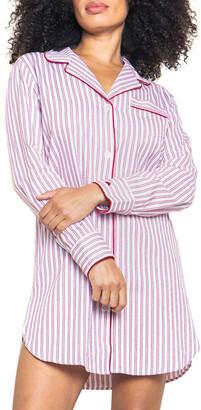 Petite Plume Ticking Stripe Cotton Nightshirt