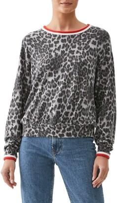 Michael Stars Tate Animal Print Sweater