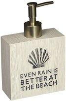 Avanti Linens 13676DMUL Beach Words Lotion Pump Dispenser, Medium, Multicolor