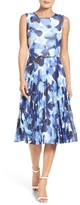 Maggy London Petite Women's Watercolor Chiffon Dress