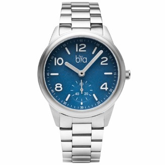 Bia Cordon Blue Women's Suffragette Japanese Quartz Stainless Steel Strap Silver 18 Casual Watch (Model: B1003)