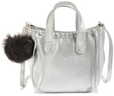 OMG Faux Leather Crossbody Shoulder Bag with Faux Fur Bag Charm