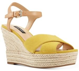Nine West Dane Platform Espadrille Wedge Sandals Women's Shoes