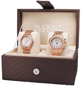 August Steiner Women's AS8171RG Silver Dial Watch Set