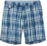 Polo Ralph Lauren - Slim-fit Checked Linen Shorts