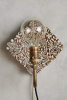 Anthropologie Carved Wood Sconce