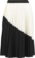 Eight Two-tone pleated crepe skirt
