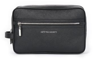 Crafted Society Edy Washbag - Black Saffiano Leather