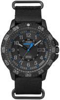 Timex Rugged Mens Black Fabric Strap Watch