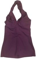 Saint Laurent Purple Silk Top for Women