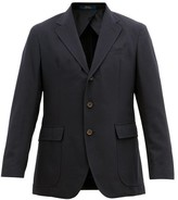 Polo Ralph Lauren Single-breasted Wool-blend Jacket - Mens - Navy