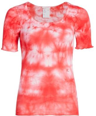 Helmut Lang Tie-Dye Scoopneck T-Shirt