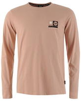 Fabric Long Sleeve Graphic T Shirt Mens