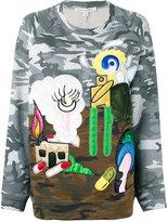 Marc Jacobs landscape patch jumper - women - Cotton - M