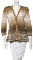Oscar de la Renta Silk Hand Knit Cardigan